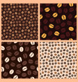 coffee pattern beans vector image