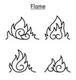 flame fire burn vector image