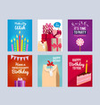 invitation cards for kids birthday party vector image