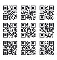qr code set square product barcode label vector image