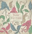 set of Vintage floral elements vector image