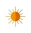 sun abstract sky circle orange icon vector image