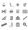 tools learning icon set 5 vector image