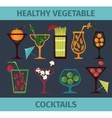 Vegetable healthy cocktails vector image