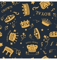 Golden Crown Pattern vector image