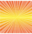 pop art style halftone explosion with light rays vector image