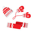 warm winter knitted clothes vector image
