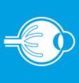 Human eyeball icon white vector image