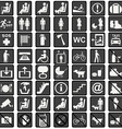 International signs icons used in transportation vector image vector image