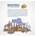 Industrial sketch background vector image