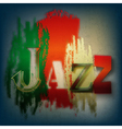 Abstract grunge blue background with the word jazz vector image vector image