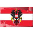 austria national flag vector image vector image