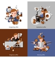 Coffee And Relax Icons Set vector image