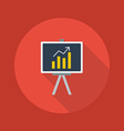 Business Flat Icon Blackboard vector image