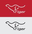 Tiger running vector image