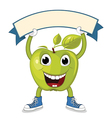 Apple with Banner vector image