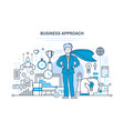 business approach project control management vector image