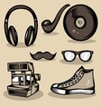 Hipster Stuff Collection vector image