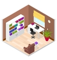 Office Room Isometric View vector image