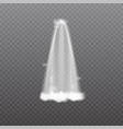 realistic waterfall isolated on transparent vector image