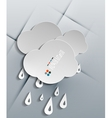 water drops paper modern design vector image