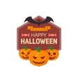 Pumpkins and text vector image