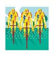 Cyclist Riding Bicycle Cycling Retro vector image vector image