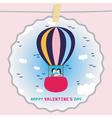 Romantic card39 vector image