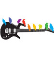guitar-birds vector image