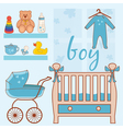 room baby boy vector image