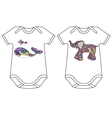 Set of baby bodies with prints vector image vector image