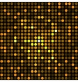 Shining Golden Dots Disco Mosaic Background vector image vector image