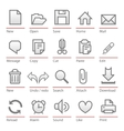 universal software icon set vector image vector image