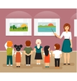 Children in the museum vector image