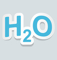 Formula of water H2O sign sticker vector image