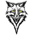 Fox head tattoo vector image