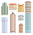 House Icons Flat Set vector image
