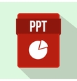 PPT file icon flat style vector image