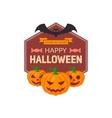 Pumpkins and text vector image