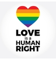 Heart LGBT support symbol with lettering in vector image