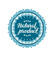 Stamp with text Natural Product written inside vector image