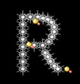 Abstract star R alphabet character vector image