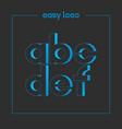 letter a b c d e f logo alphabet icon set vector image