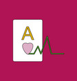 flat icon design collection ace of hearts vector image vector image