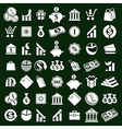 Money icons set finance theme simplistic symbols vector image