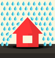 House in Rain Flat Design vector image