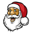 cheerful santa claus head vector image