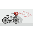 Valentines day and bicycle vector image