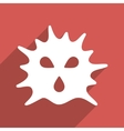 Virus Structure Flat Longshadow Square Icon vector image