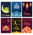 Beautiful color Eid Mubarak card design vector image vector image